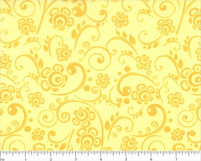 "108"" Choice Fabric Yellow Floral 48496-500"