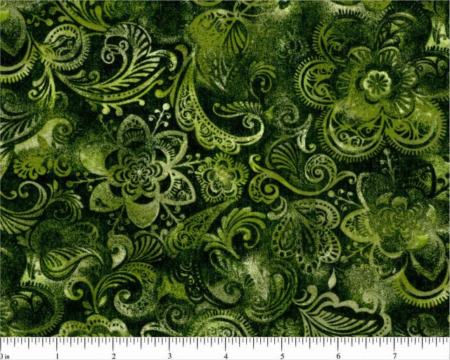 "108"" Green Floral 48381-611"