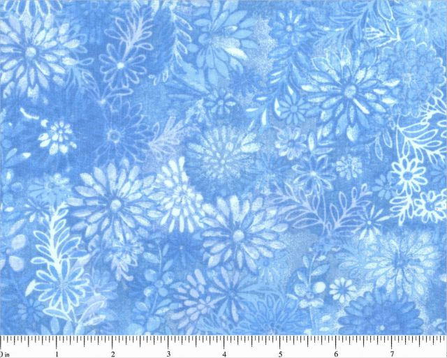 "108"" Choice Fabric Sky Blue Floral 48382-202"