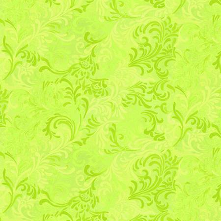 "108"" Wilmington Lime Green Leaves 1056-6608-705"