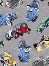 Classic Cottons Grey car toss 61147-80