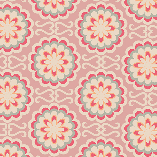 Art Gallery Fabrics, Fancy Buttons, rose CHR-1300