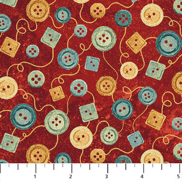 A Stitch in Time red buttons 39358-24