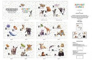 Alphabet Animal book panel 7306E