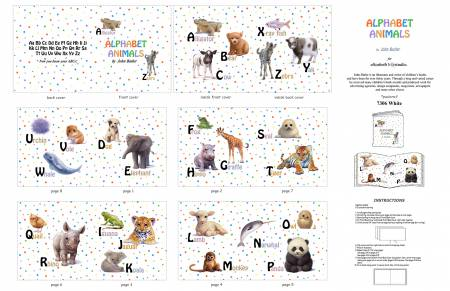 Alphabet Animal book panel 7306E