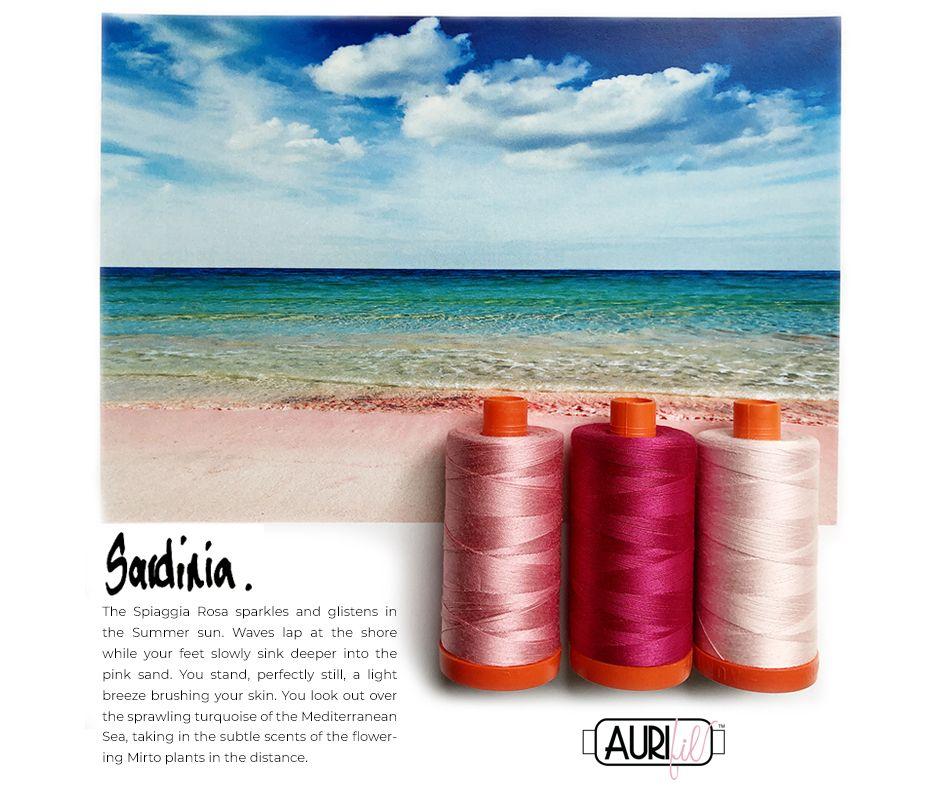 Aurifil Thread Pack Sardinia Pink