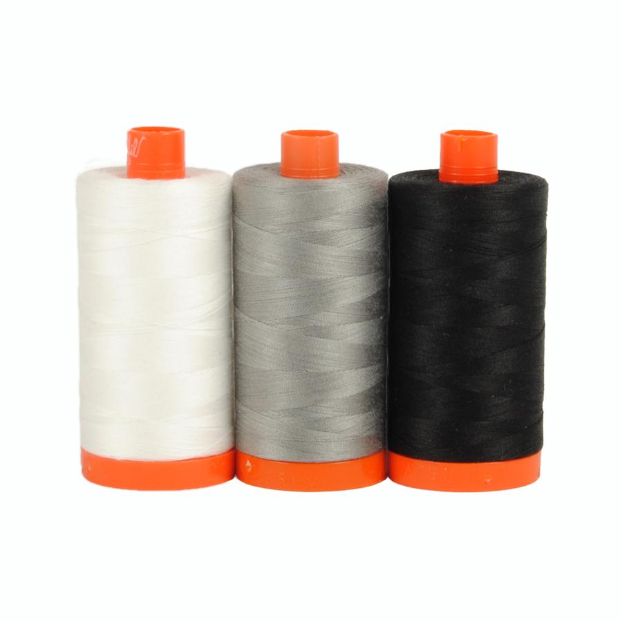 Aurifil Thread Pack Carrara Black/White