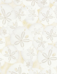 Beach by Timeless Treasures C5352 sand dollars