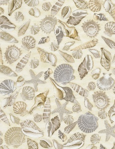 Beach by Timeless Treasures C5353 seashells