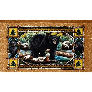 Bear Country Panel by Quilting Treasures