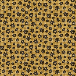 Bear Paws Prints Honey Black 685-33