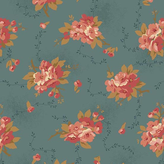 Bed of Roses 8986T Dusty blue