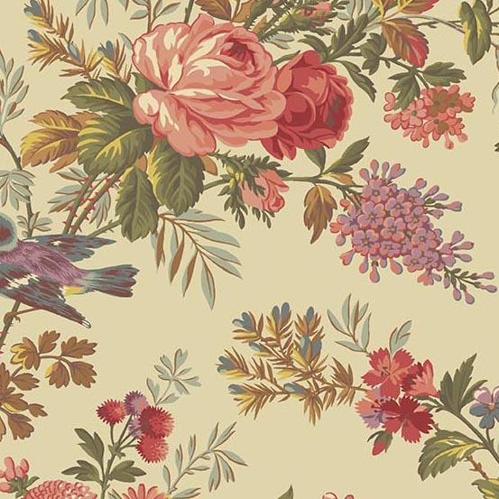 Bed of Roses 8985L Bisque main floral