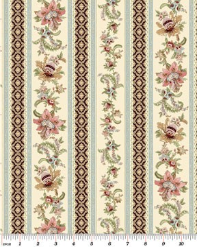 Benartex Antionette Floral Stripe 01293-07