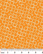 Benartex Butterfly Effect Orange Circles 419733B
