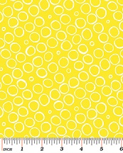 Benartex Butterfly Effect Yellow Circles 419730B