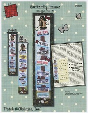 Butterfly House License Plate Pole Pattern