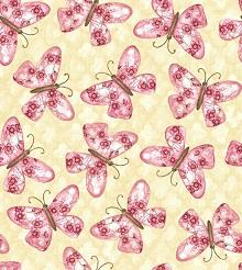 Blank Cherry Blossom Butterflies R7345-04