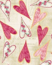 Blank Cherry Blossom Love Hearts 7344-04