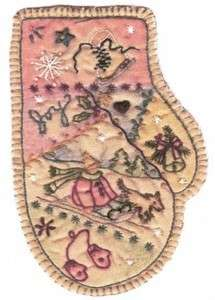 Embroidered Mitten by Chickadee Hollow Designs