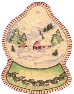 Embroidered Snowglobe by Chickadee Hollow Designs
