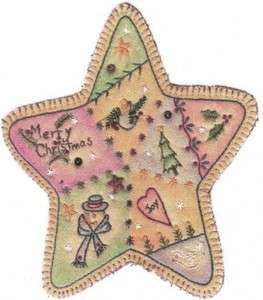 Embroidered Star by Chickadee Hollow Designs