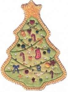 Embroidered Tree by Chickadee Hollow Designs