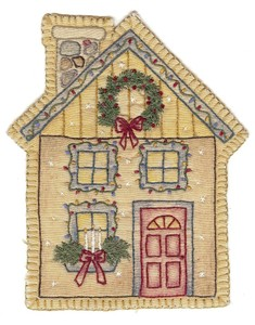 Embroidery Christmas House