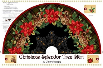 Christmas Splendor Tree Skirt Panel by Henry Glass