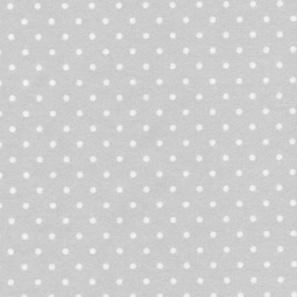 Cozy Cotton Flannel silver dot FIN-9255-186 SILVER