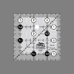 "CGR3  3 1/2"" square ruler"