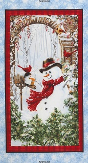 Snowman Panel by Timeless Treasures C4261