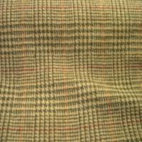 Plaid beige/green wool with purple/orange stripe