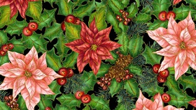 Christmas Morning Tossed Poinsettias 4042-60981-8G