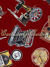 -Vintage Gadgets Red Tossed Machines 4051-60985-10