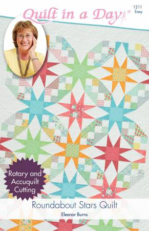 Roundabout Stars Quilt by Eleanor Burns 1211