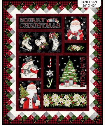 Farmhouse Christmas Panel by Northcott DP23493-99