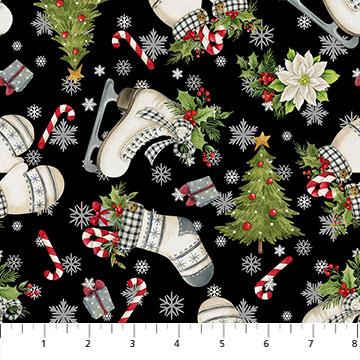 Farmhouse Christmas Toss by Northcott 23395-99