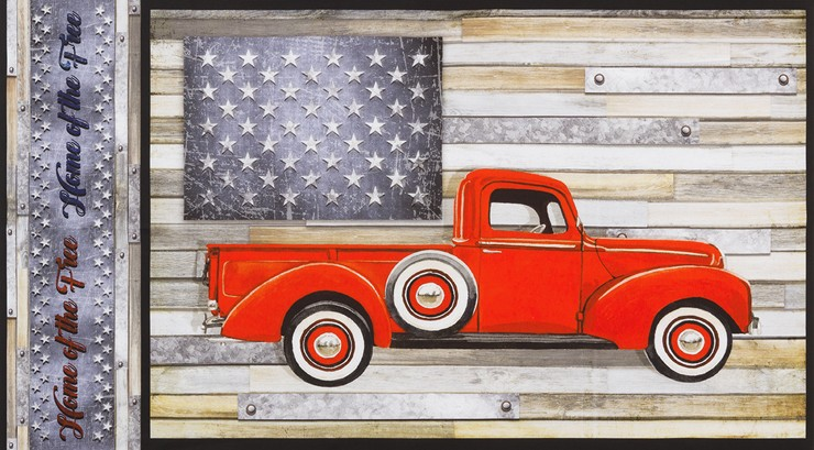 Farmhouse Truck panel by Robert Kaufman