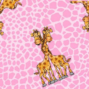 Flannel Pink Giraffe on Skin 9840AE-22