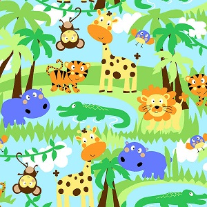 Flannel Jungle Animals 0507ae-11