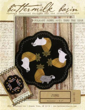 Folk Art Penny Mat Sheep wool kit