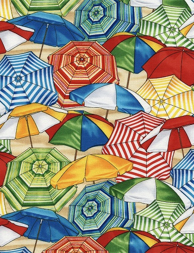Beach Umbrellas by Timeless Treasures GM-C2190- Multi