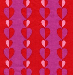 Hallmark Heart Stripe red A10-290