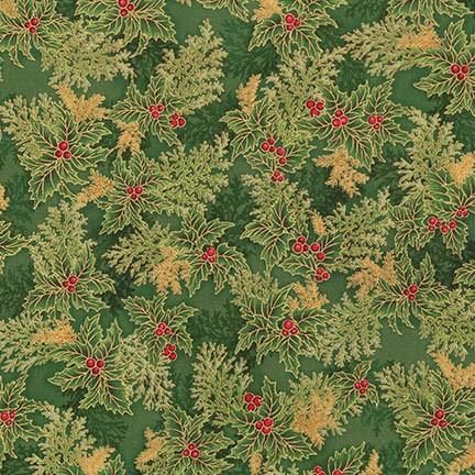 Holiday Flourish 11 green holly sprigs APTM-17340-240