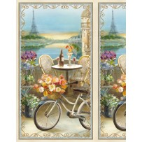 Le Cafe panel by Wilmington Prints