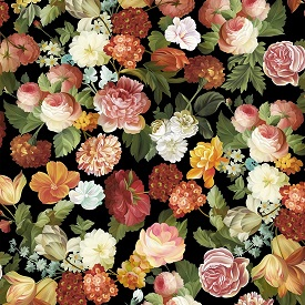 Les Fleurs, large flower toss 24356J