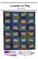 License to Play quilt pattern