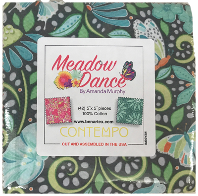 Meadow Dance charm pack by Benartex Fabrics