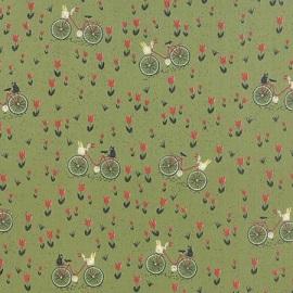 Mon Ami Jardin Bicyclette Vert 30413-15 by Moda